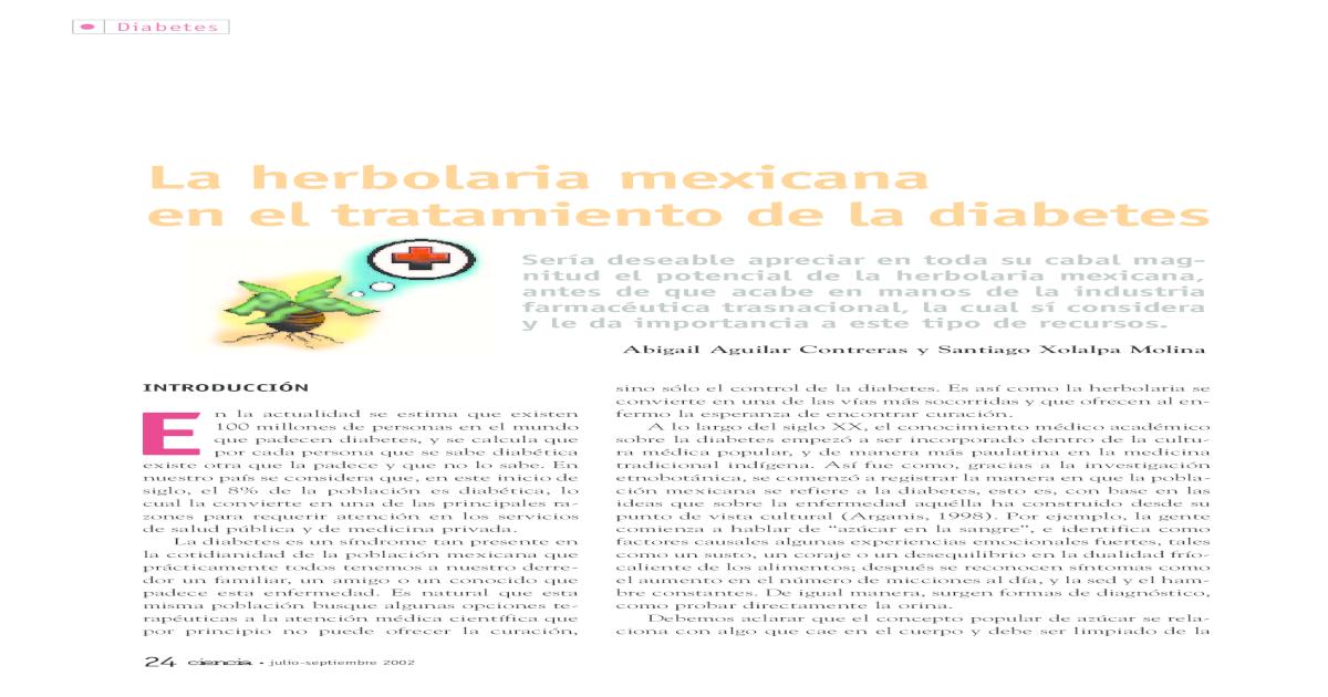 asociación de diabetes cucurbita ficifolia