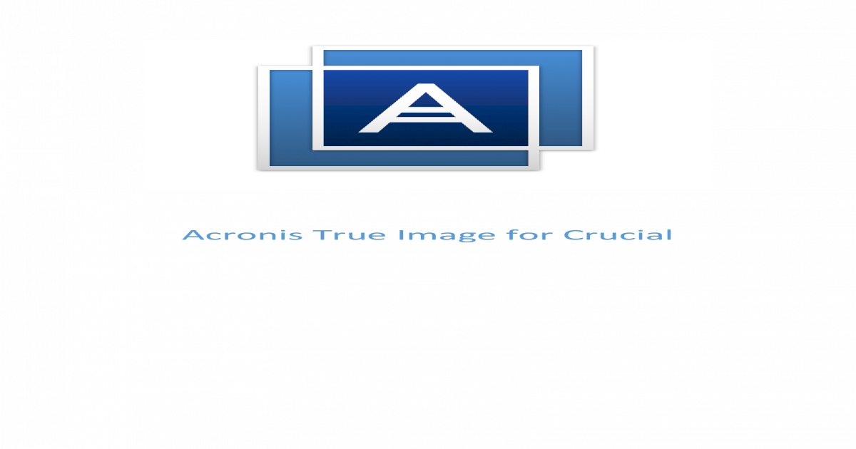 Crucial for acronis