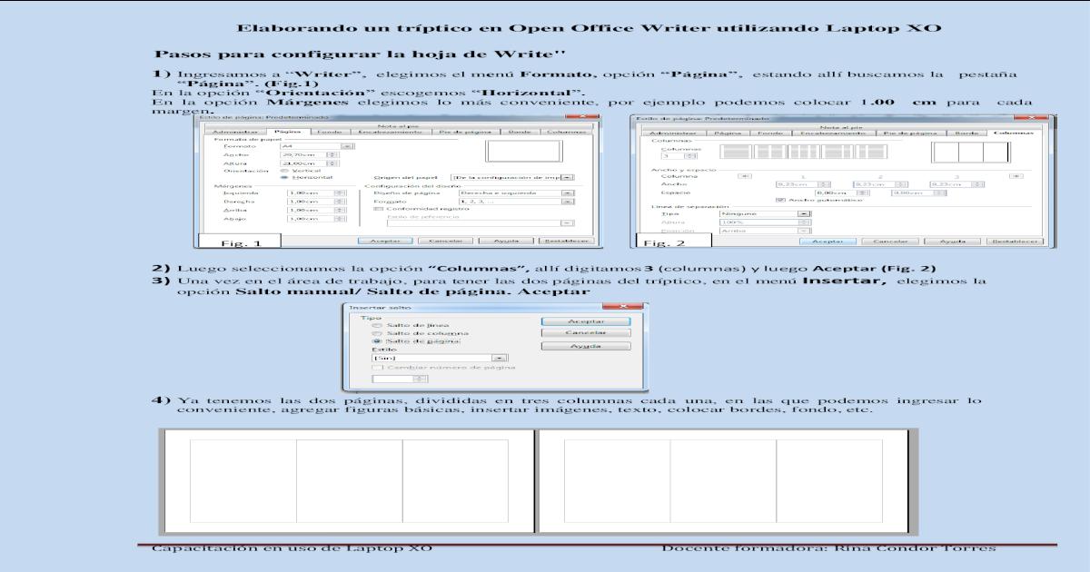Elaborando Un Tríptico En Open Office Writer Para Hacer Un Tríptico En Elaborando Un Tríptico Pdf Document