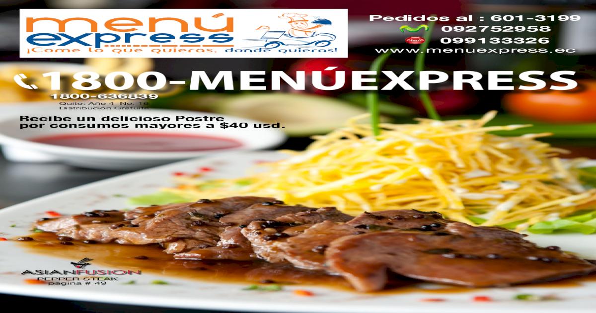 Menu Express Quito Revista 16 Pdf Document